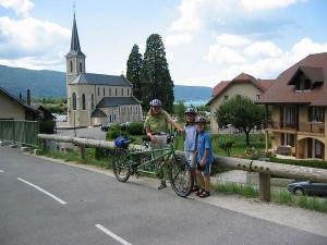 Bicycling Franch Alps