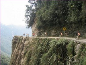 "Most fun mountain biking route on the planet:   ""World's Most Dangerous Road,"" Bolivia"
